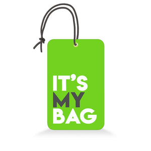 It's My Bag Green | Trendy Luggage Tag