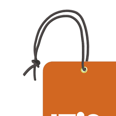 It's My Bag Orange | Trendy Luggage Tag