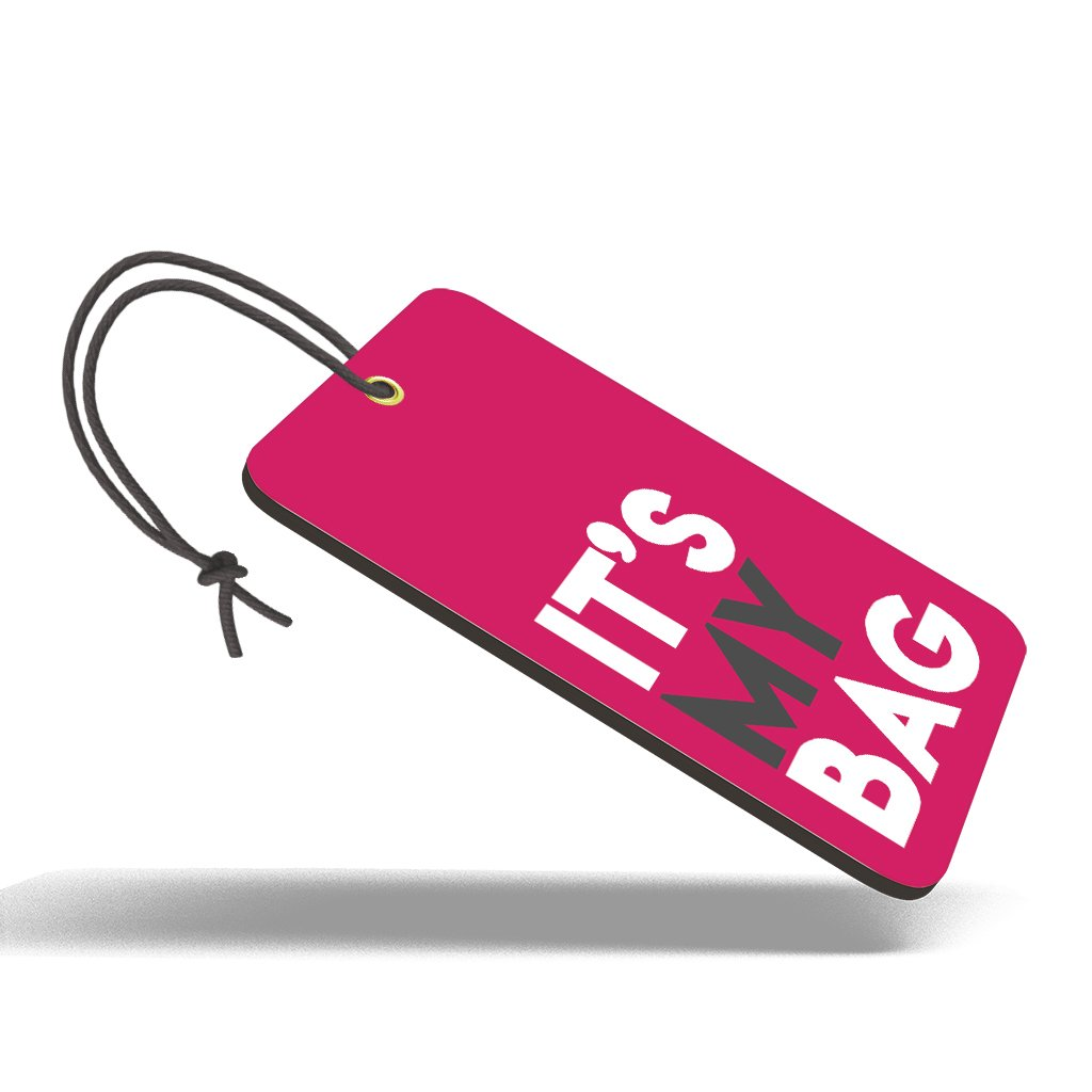 It's My Bag Pink| Trendy Luggage Tag