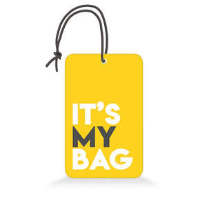 It's My Bag Yellow | Trendy Luggage Tag