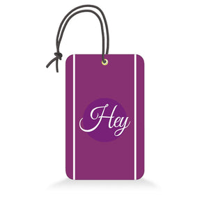 Hey | Trendy Luggage Tag