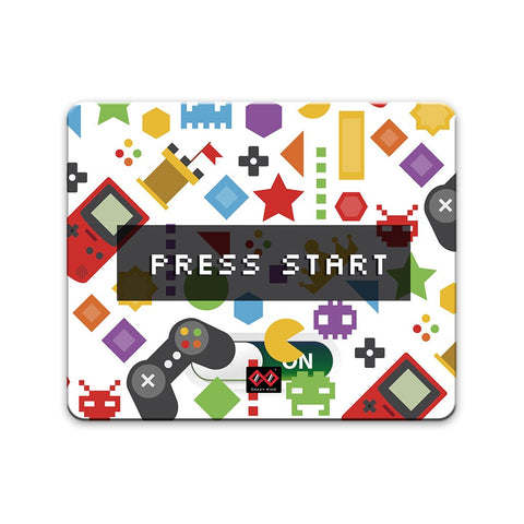 Game: Press Start | Rectangle Rectangle Mouse Pad