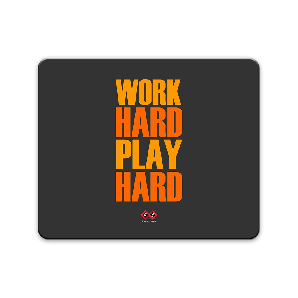 Work Hard Play Hard | Rectangle Mouse Pad