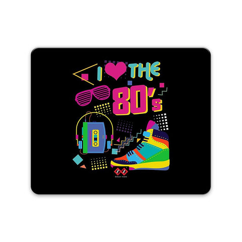 I Love 80's | Rectangle Mouse Pad