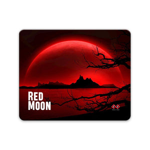 Red Moon | Rectangle Mouse Pad