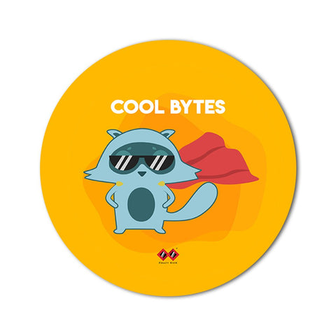 Cool Bytes | Round Mouse Pad