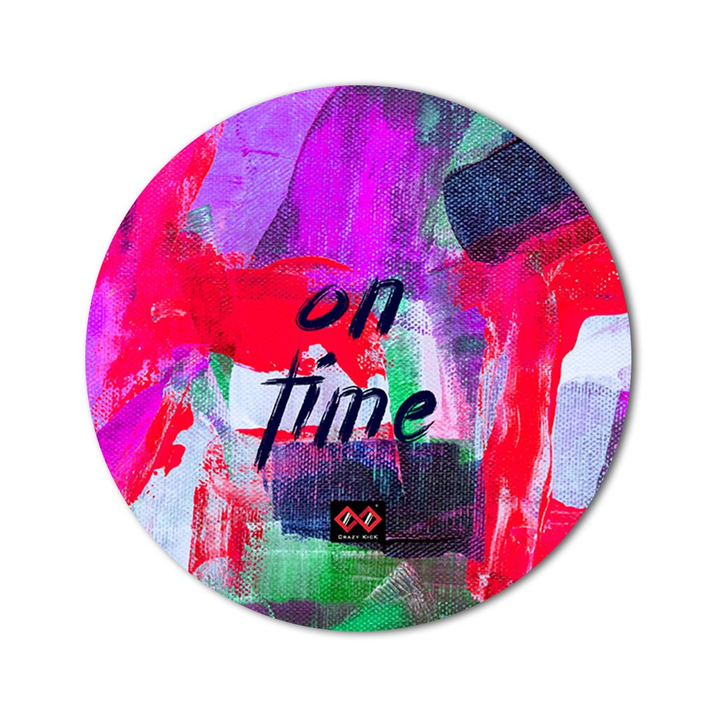 On Time | Round Mouse Pad