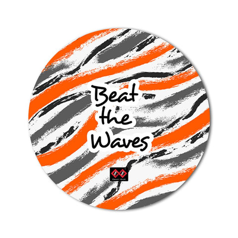 Beat the Waves | Round Mouse Pad