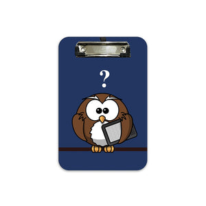 Owl Question Mark? | A5 Radius Clip Board