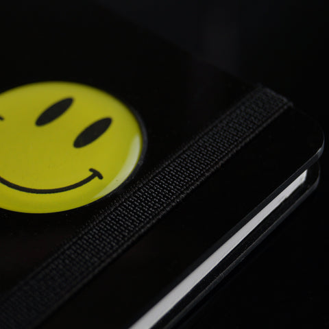 Smiley Series A5 wiro book - Jet Black