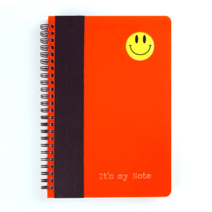 Smiley Series A5 wiro book - Candy Orange