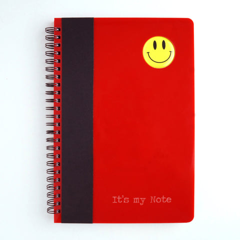 Smiley Series A5 wiro book - Melon Red