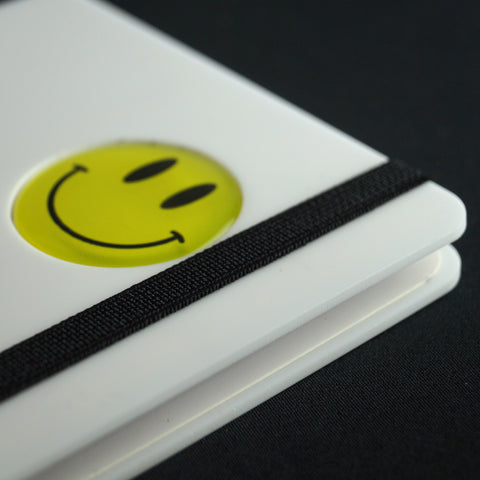 Smiley Series A5 wiro book - Classic White