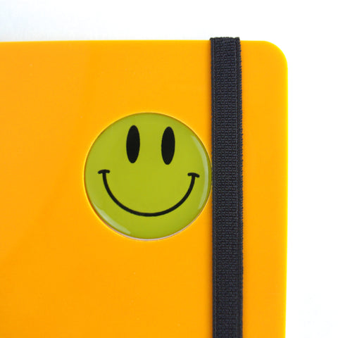 Smiley Series A5 wiro book - Mellow Yellow