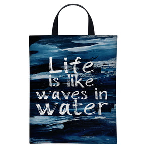 life is like waves in water | Satin Bag