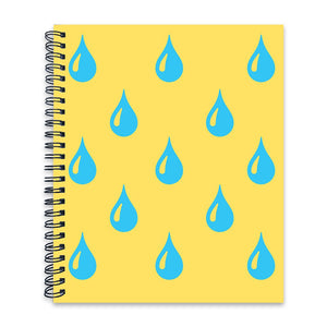 Droplets on Yellow | Wiro Note Book