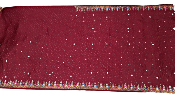 All Over Red Color Thread Work Design Gaji Silk Bandhani Saree - KalaSanskruti Retail Private Limited