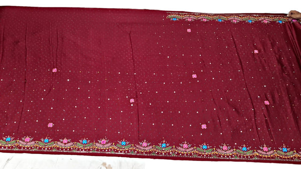 All Over Red Color Hand Work Design Gaji Silk Bandhani Saree - KalaSanskruti Retail Private Limited