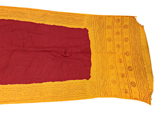 Yellow And Red Color Fancy Design Cotton Bandhani Saree - KalaSanskruti Retail Private Limited