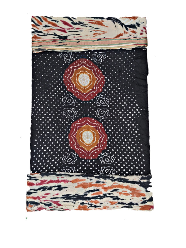 All Over Orange Color Fancy Design Gaji Silk Bandhani Dupatta
