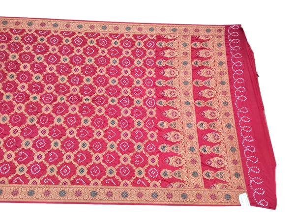 Pink And Green Color Fancy Design Cotton Bandhani Saree - KalaSanskruti Retail Private Limited