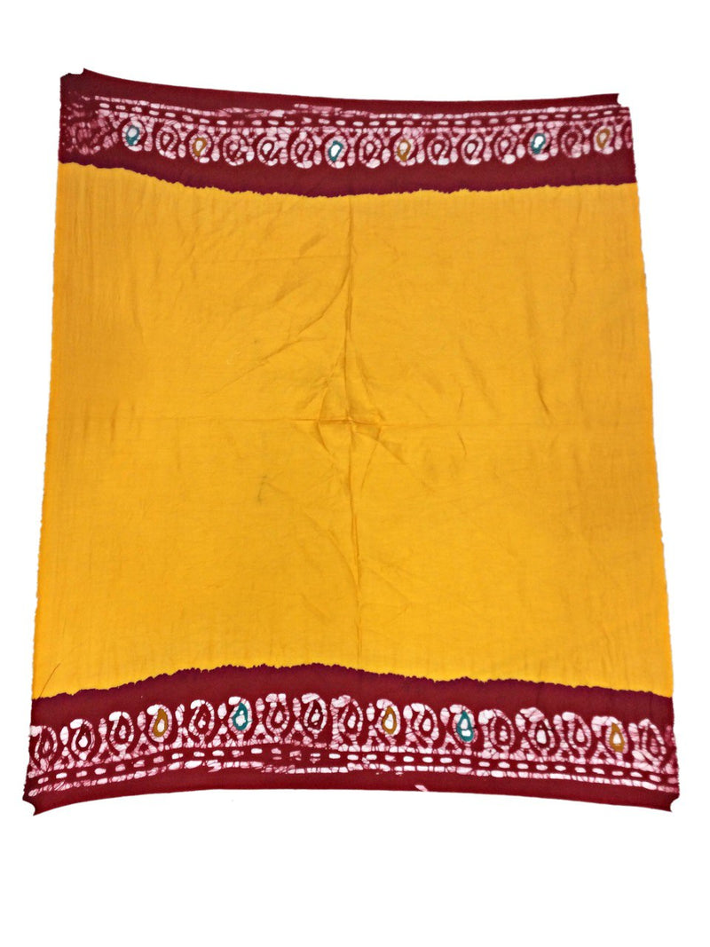 Golden And Red Color Fancy Design Cotton Bandhani Saree - KalaSanskruti Retail Private Limited
