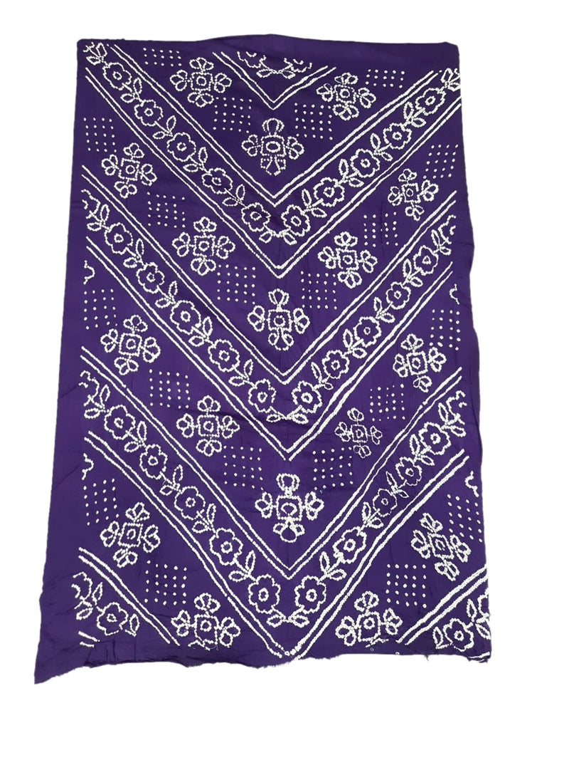 Purple And Gajri Color Fancy Design Gadhwal Bandhani Dress Material - KalaSanskruti Retail Private Limited