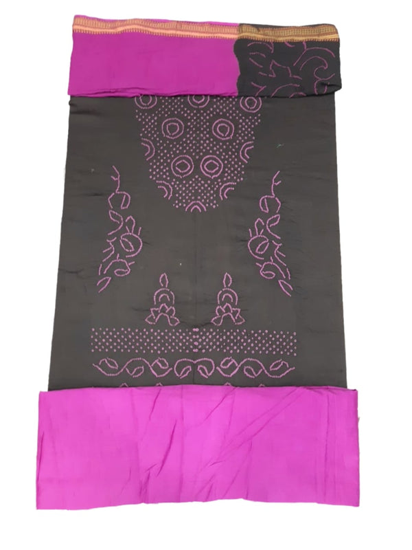 Light Purple And Sea Green Color Fancy Design Gadhwal Bandhani Dress Material - KalaSanskruti Retail Private Limited