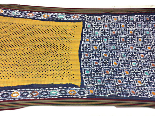 Rust And Blue Color Fancy Design Cotton Bandhani Saree - KalaSanskruti Retail Private Limited