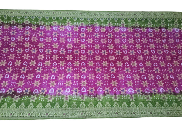 Light Dark Purple Color Fancy Design Art Silk Bandhani Saree - KalaSanskruti Retail Private Limited