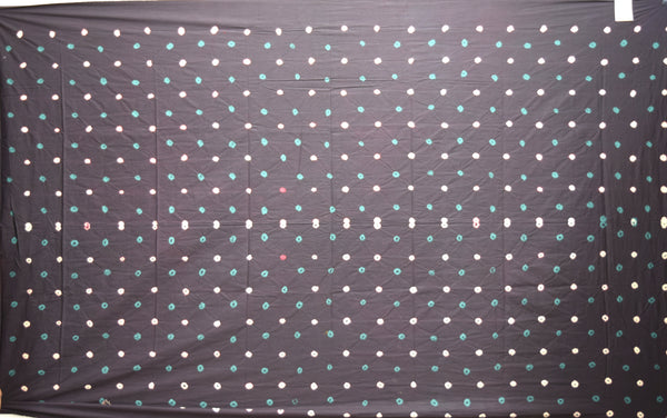 All Over Black Color Cotton Satin Than - KalaSanskruti Retail Private Limited