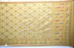 All Over Golden Color Resham Work Design Gadhwal Bandhani Saree
