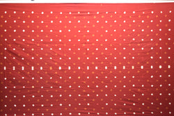 All Over Red Color Fancy Design Cotton Satin Than