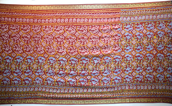 All Over Red Color Sikari Design Gaji Silk Gharchora - KalaSanskruti Retail Private Limited