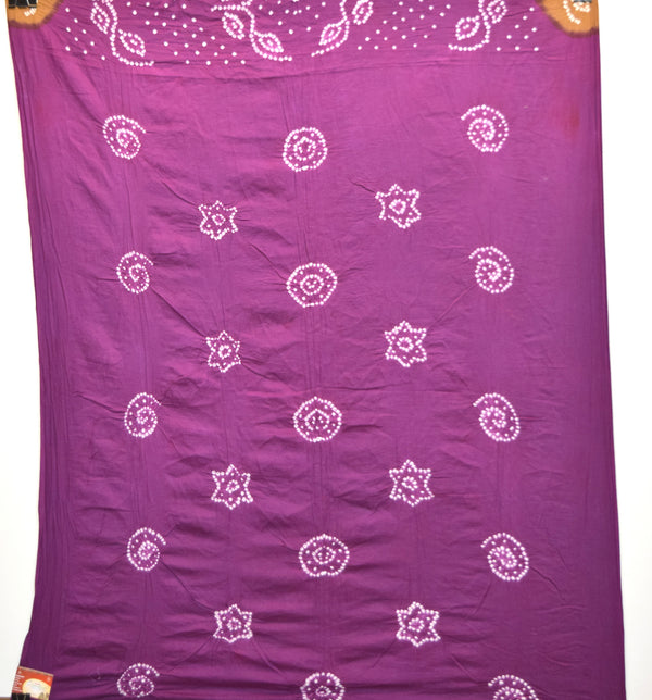 Chiku And Magenta Color Cotton Bandhani Kurti