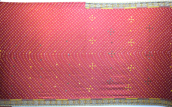 All Over Red Dani Design Gaji Silk Gharchora - KalaSanskruti Retail Private Limited