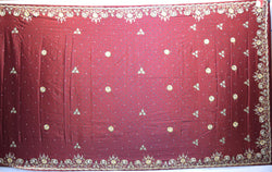 All Over Maroon Dani Zardosi Work Gaji Silk Gharchora - KalaSanskruti Retail Private Limited