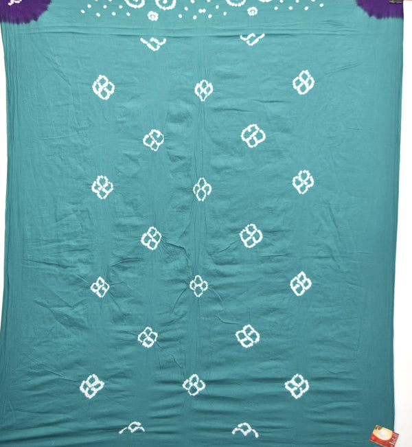 All Sea Green Color Cotton Bandhani Kurti
