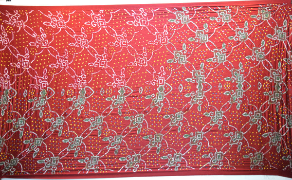 Red And Green Color Thread Work Design Gaji Silk Gharchora - KalaSanskruti Retail Private Limited