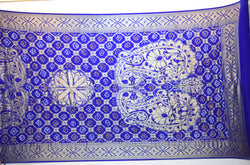 All Over Blue Color Gaji Silk Bandhani Dupatta