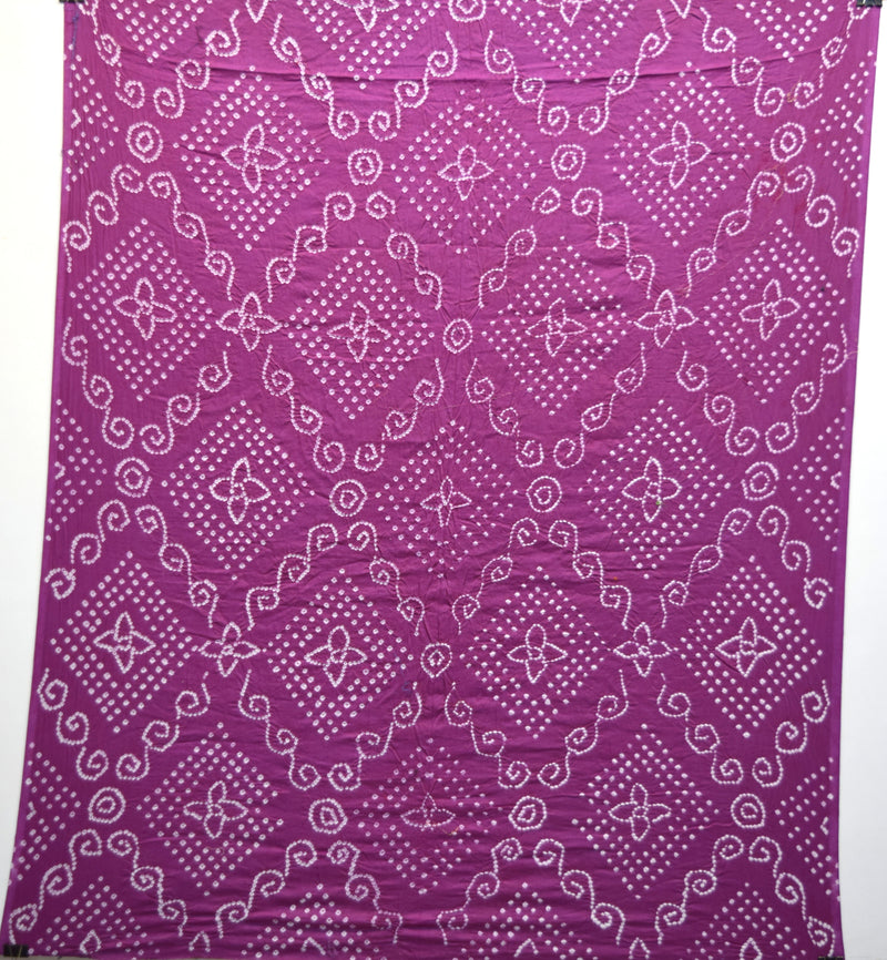 All Over Magenta Color Cotton Bandhani Kurti - KalaSanskruti Retail Private Limited