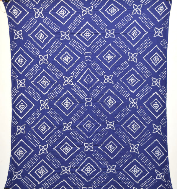 All Over Blue Color Cotton Bandhani Kurti - KalaSanskruti Retail Private Limited
