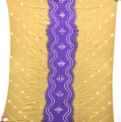 Chiku And Purple Color Cotton Bandhani Kurti - KalaSanskruti Retail Private Limited