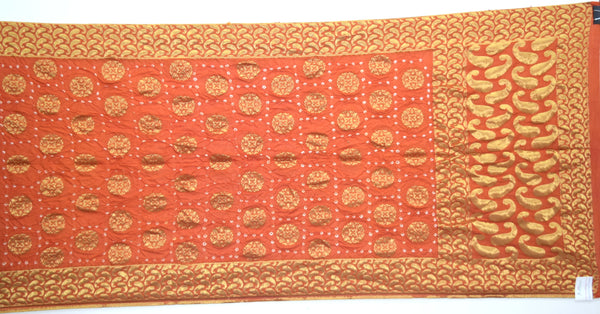 All Over Rust Color Fancy Design Dupion Silk Bandhani Dupatta - KalaSanskruti Retail Private Limited