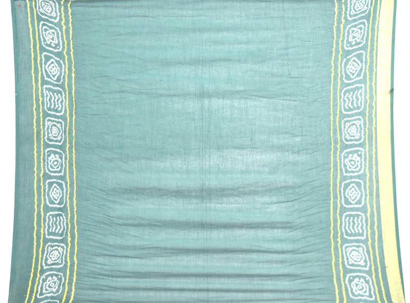 All Over Green Color Fancy Design Cotton Bandhani Gharchora Saree - KalaSanskruti Retail Private Limited