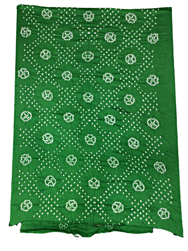 All Over Green Fancy Design Cotton Bandhani Kurti