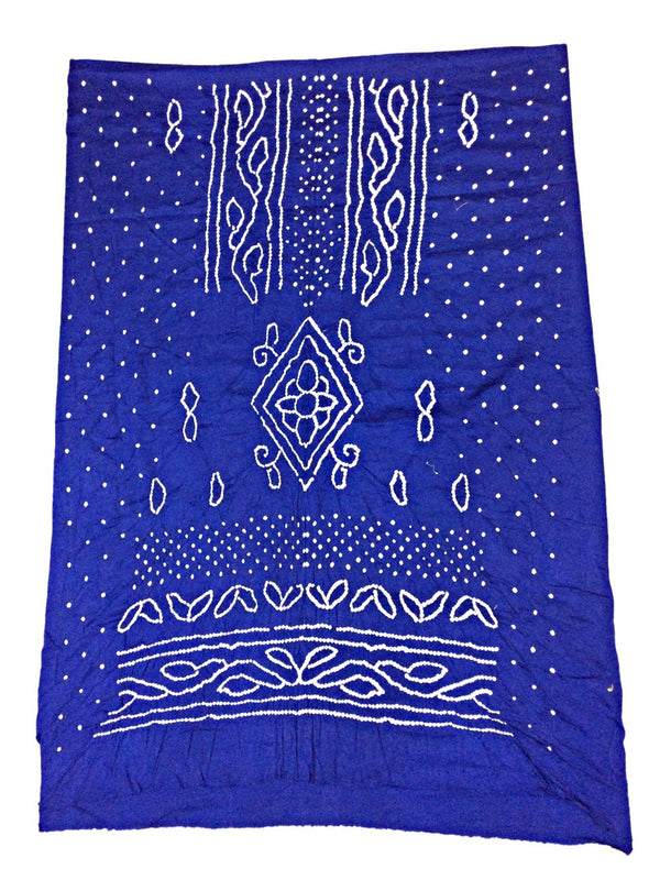 All Over Blue Fancy Design Cotton Bandhani Kurti