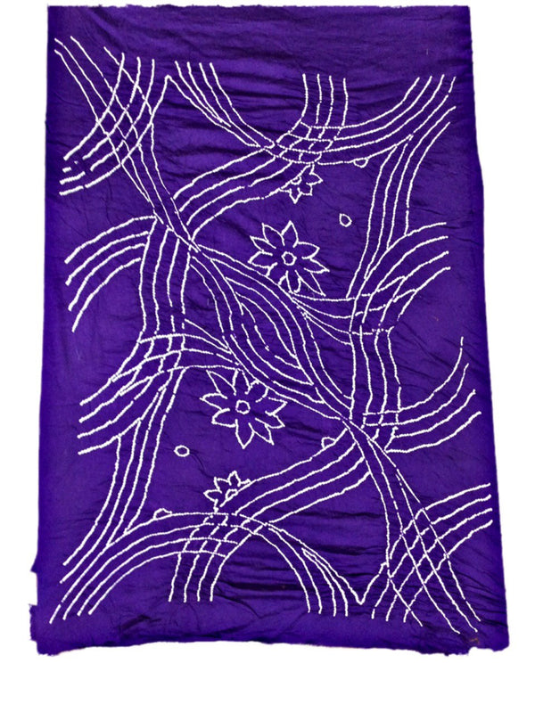 All Over Purple Fancy Design Cotton Bandhani Kurti - KalaSanskruti Retail Private Limited