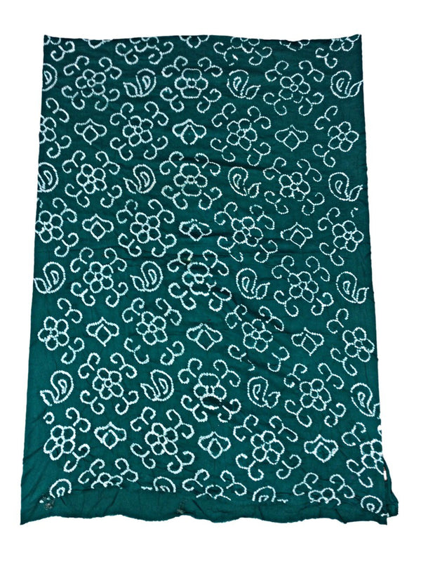 All Over Sea Green Fancy Design Cotton Bandhani Kurti