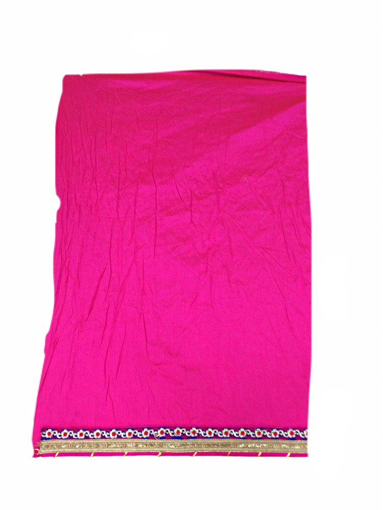Pink And Blue Color Fancy Design Pure Crepe Bandhani Saree - KalaSanskruti Retail Private Limited